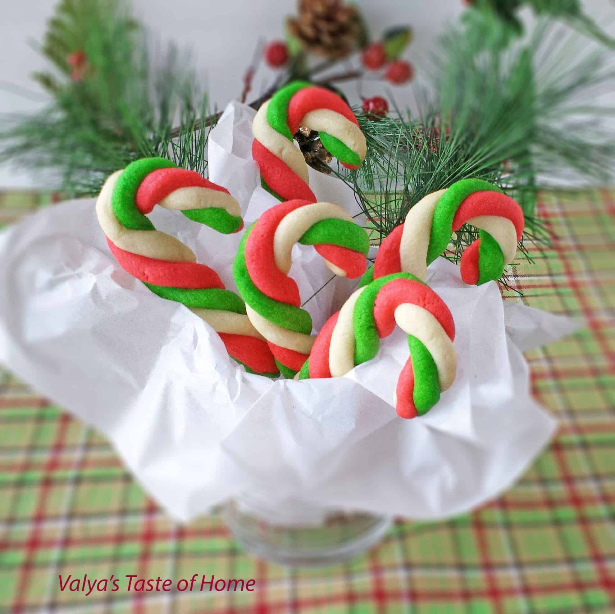 Mint Candy Cane Cookies Valya S Taste Of Home